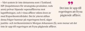 Morgan Johansson uttalar sig om Saudiarabien i DN, den 22 oktober 2018