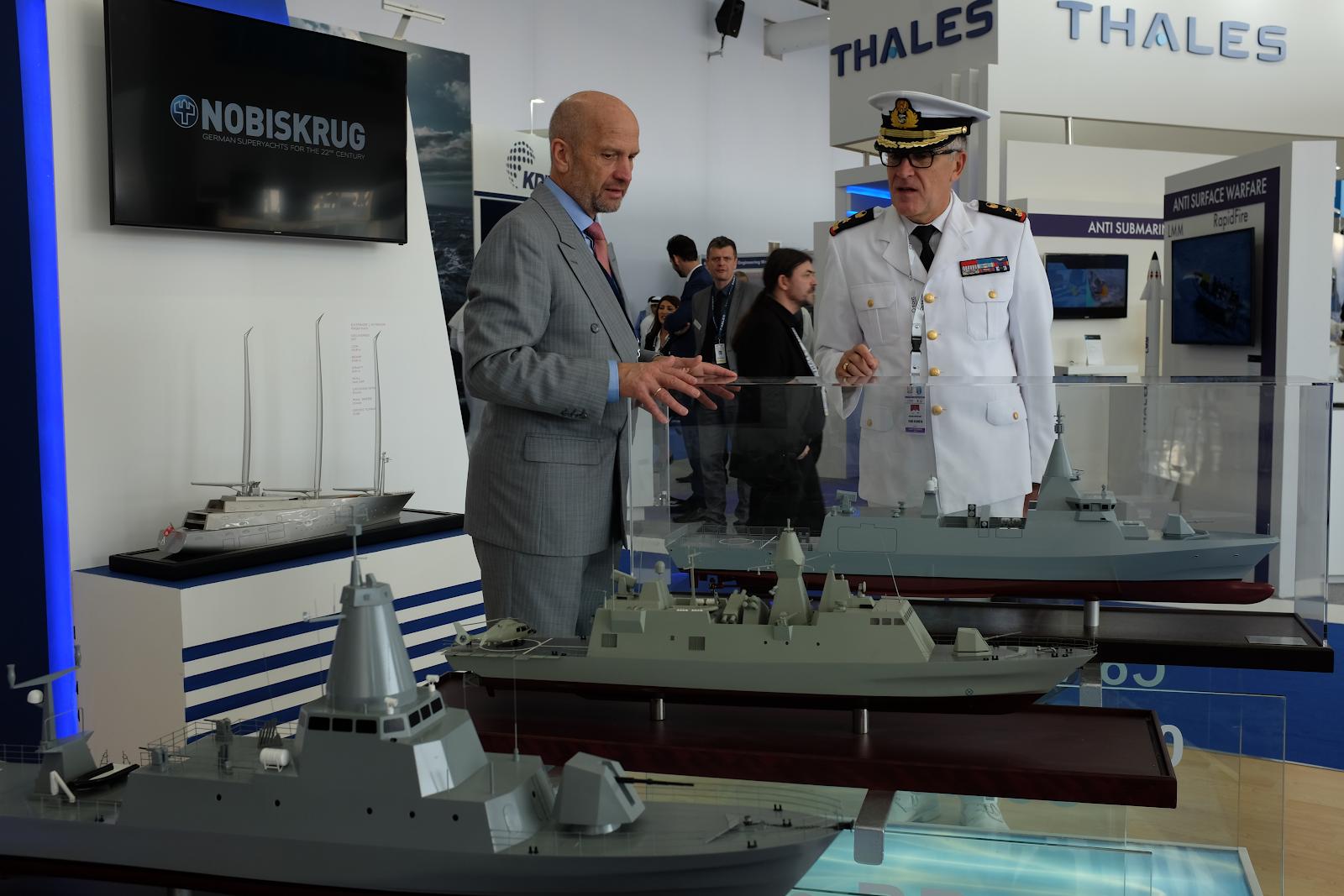 Thales monter på vapenmässan IDEX i Abu Dhabi, Förenade arabemiraten februari 2019. Foto: Linda Åkerström/Svenska Freds.