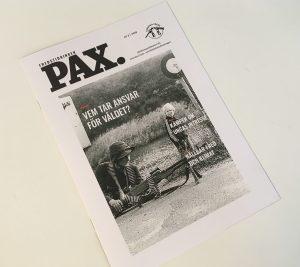 Svenska Freds tidning PAX nr 3 2019