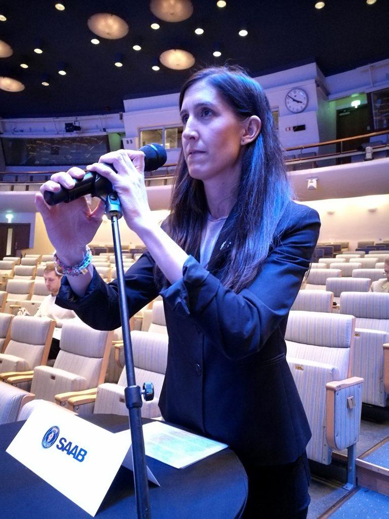 Agnes Hellström, Svenska Freds ordförande, anförande på Saabs årsstämma.