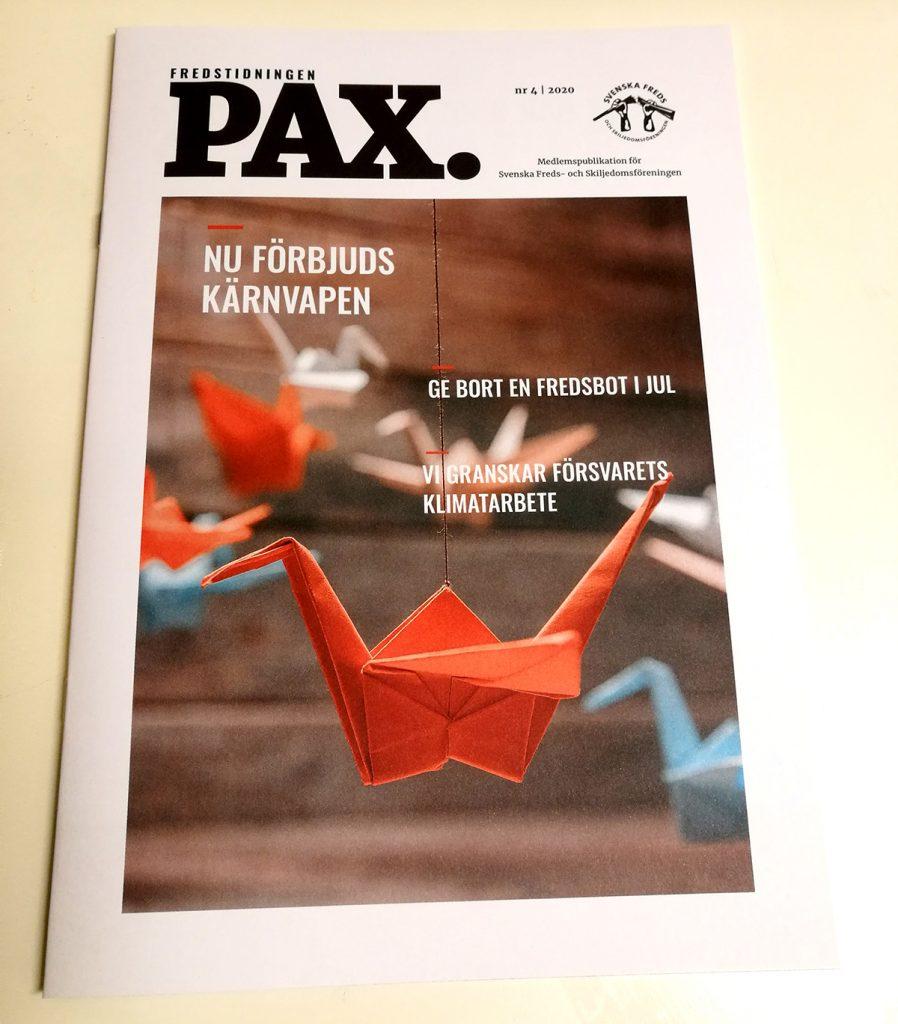 Fredstidningen PAX nr 4 2020